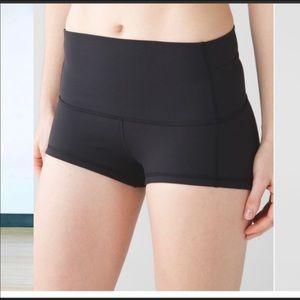 lululemon athletica Shorts - Lululemon black shorts sz 4 yoga workout running